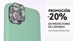 20% de descuento en protectores de cámara para móviles