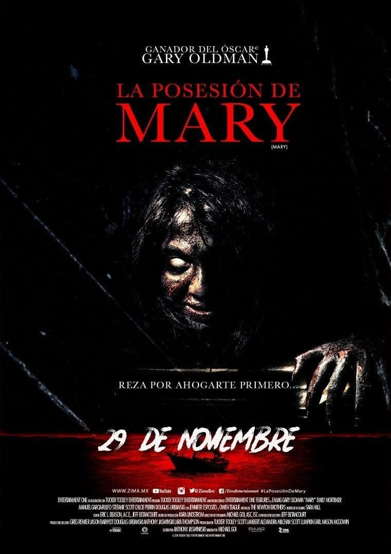 "Poster for the movie ""La posesión de Mary"""